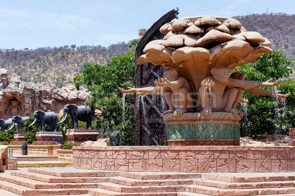 Gigantic monkey statues on fountain in famous Lost City Stock photo © artush
