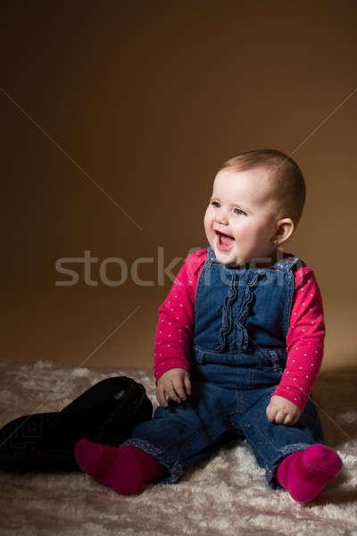 smiling infant baby Stock photo © artush
