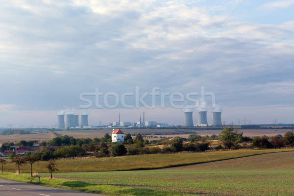 Stock photo: Cooling towers at the nuclear power plant