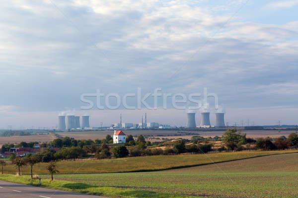 Chłodzenie jądrowej elektrownia Czechy technologii Zdjęcia stock © artush