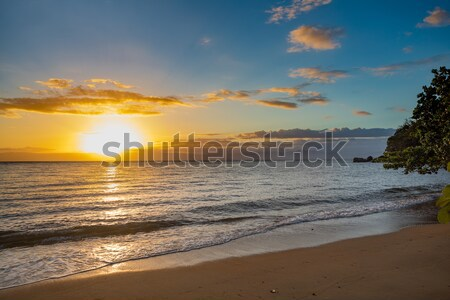 Idylic sunset over indian ocean, Madagascar Stock photo © artush