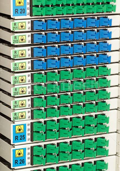 Vezel rack kabel beheer groene Stockfoto © artush