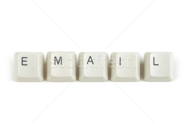 email from scattered keyboard keys on white Stock photo © artush