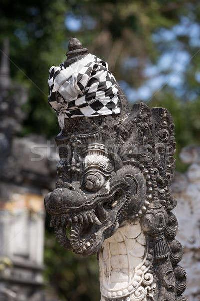 Statue detail Hindu temple at Pura Sahab Stock photo © artush