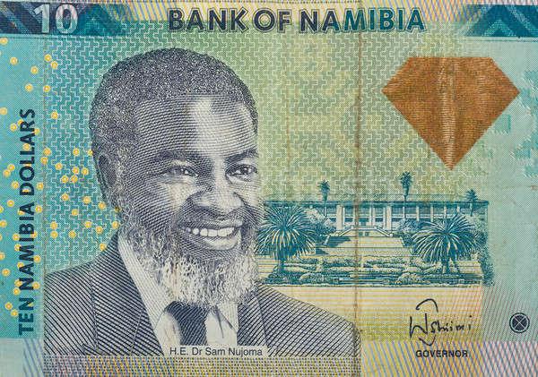 Detail 10 dollar bankbiljet valuta Namibië Stockfoto © artush