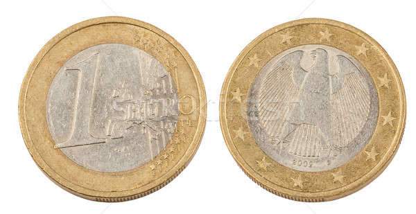 Front and Back of One Euro Coin Stock photo © artush