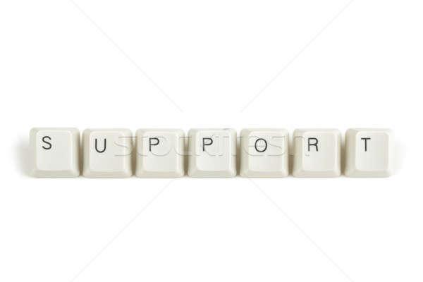 Ondersteuning toetsenbord sleutels witte tekst geïsoleerd Stockfoto © artush