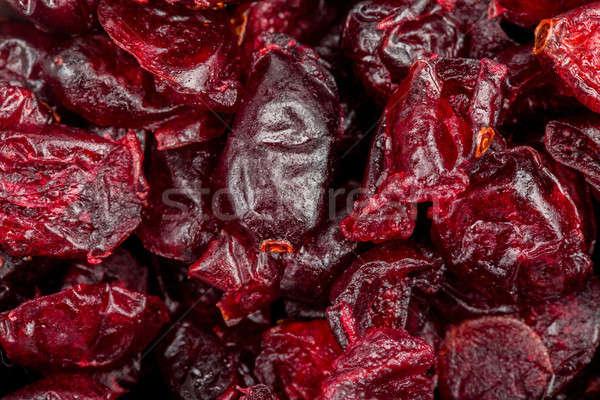 macro of freshly dried cranberries Stock photo © artush