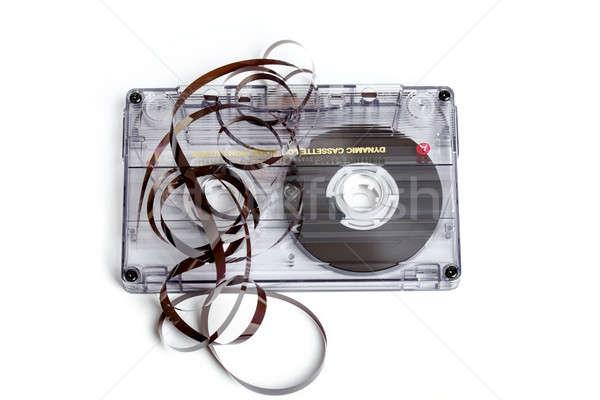 Bağbozumu ses bant kaset yalıtılmış Stok fotoğraf © artush