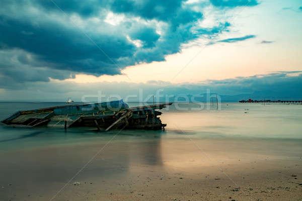 Nusa penida, Bali beach with dramatic sky Stock photo © artush