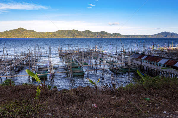 Fish farm at Lake Tondano Stock photo © artush