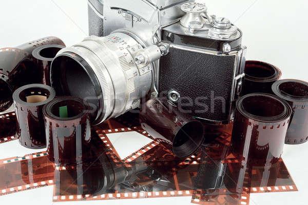 analog vintage SLR camera and color negative films Stock photo © artush