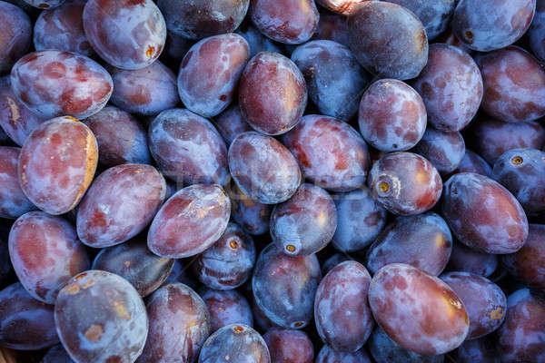 Rijp paars Blauw pruimen textuur detail Stockfoto © artush