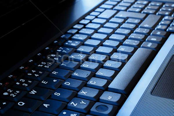 ストックフォト: ノートパソコンのキーボード · 青 · ビジネス · デザイン · 技術