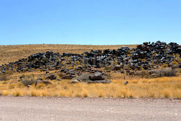 Fantastik Namibya çöl manzara bölge dramatik Stok fotoğraf © artush