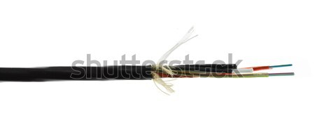 Fiber optic cable detail isolated on white Stock photo © artush