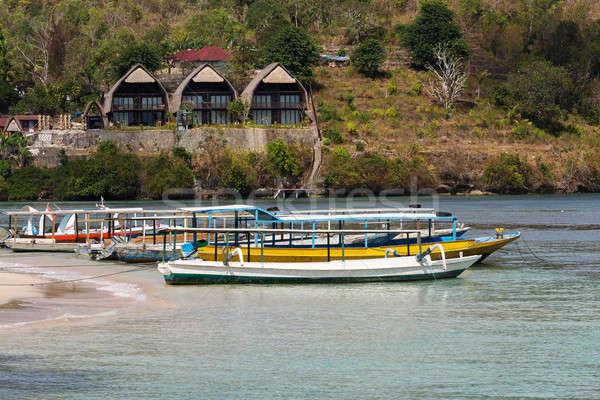 Catamarán barco bali Indonesia isla cielo azul Foto stock © artush