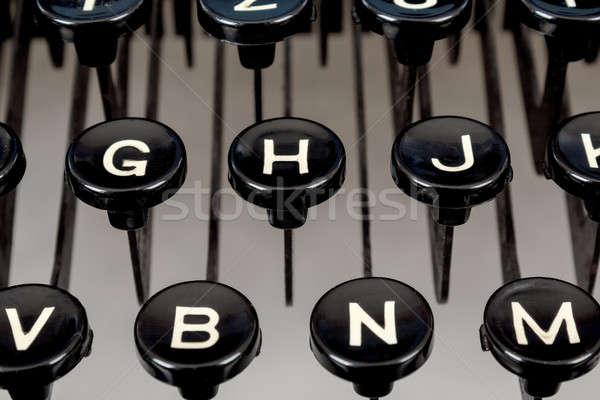 detail of keys on retro typewriter Stock photo © artush