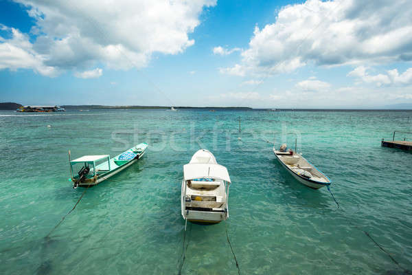 Small boats on nusa penida beach, Bali Indonesia Stock photo © artush
