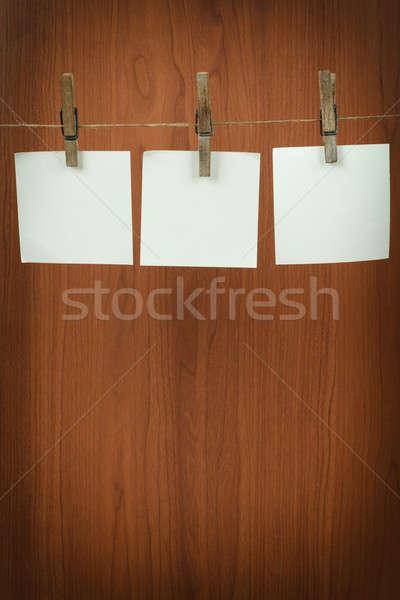 Memória enforcamento cordão branco escritório Foto stock © artush