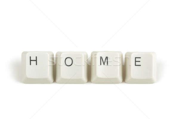 Casa teclado claves blanco texto aislado Foto stock © artush