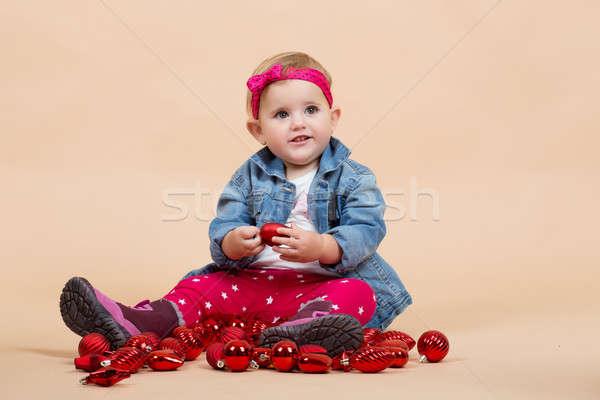 one year baby portrait Stock photo © artush