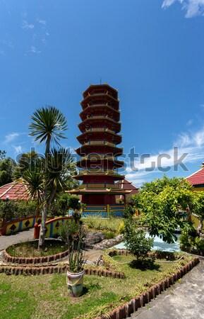 Pagoda hermosa famoso turísticos lugar pueblo Foto stock © artush