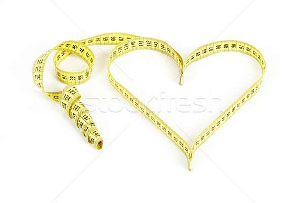 Tape measure heart shape - health, weight concept  Stock photo © artush