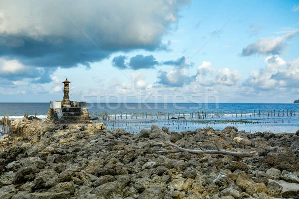 Small temple on the shore by the sea Stock photo © artush