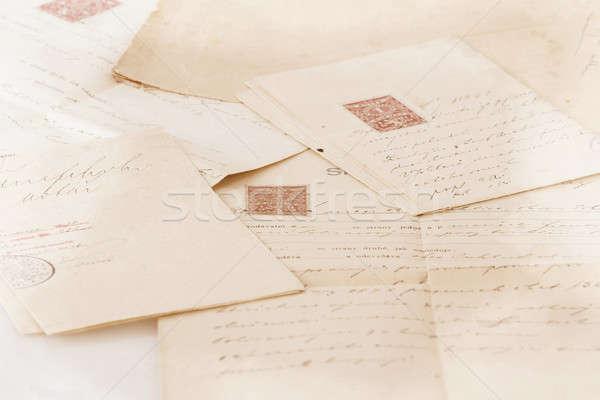 very old handwritten text contract Stock photo © artush