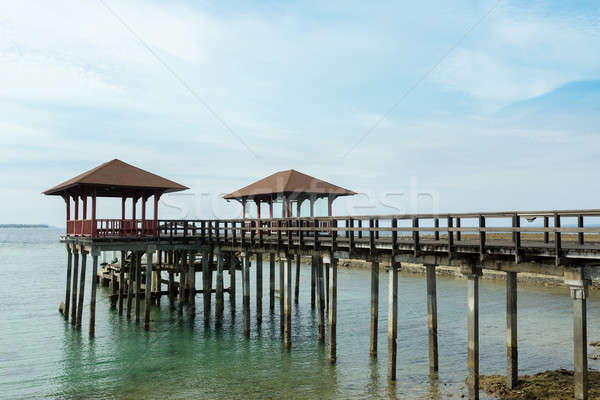 Indonesian landscape with walkway and sea Stock photo © artush