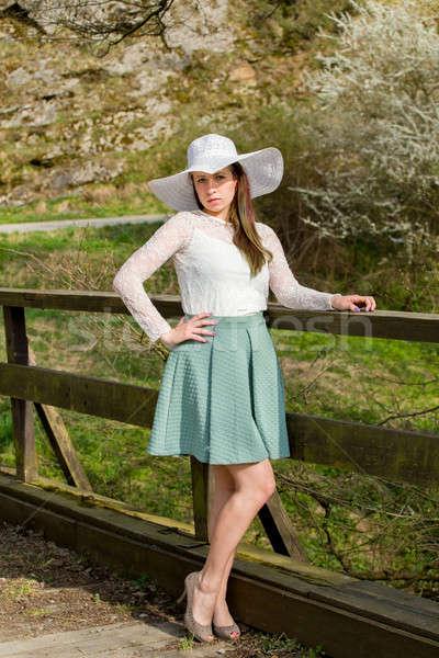 fashionable woman in spring Stock photo © artush