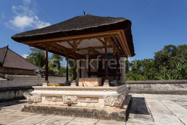 Famoso carro templo bali Indonésia paisagem Foto stock © artush