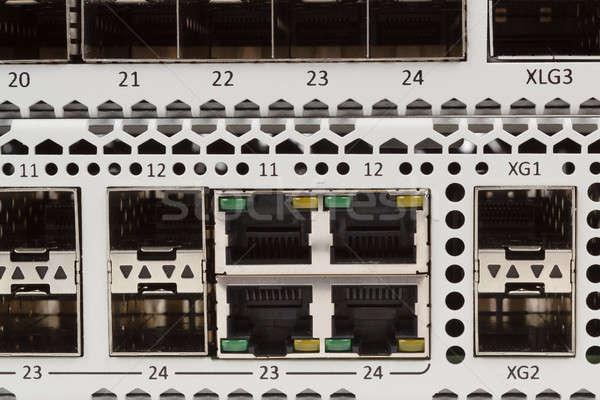Ethernet schakelaar sleuf detail vezel Stockfoto © artush