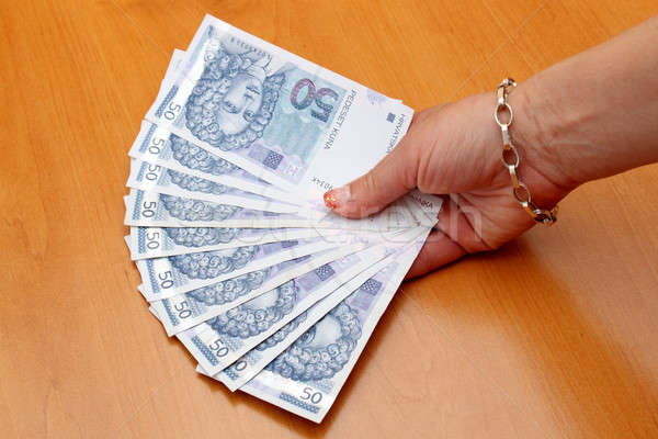 Stock photo: fanout from Croatian Kuna banknotes