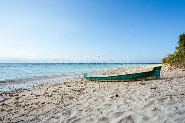 Rüya plaj tekne bali Endonezya ada Stok fotoğraf © artush