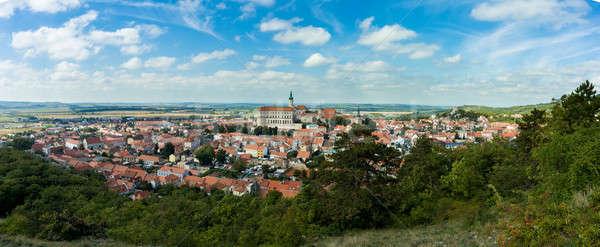 wide panorama of Mikulov city Stock photo © artush
