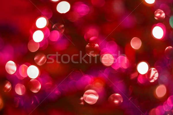 Streszczenie zamazany kolorowy circles bokeh christmas Zdjęcia stock © artush