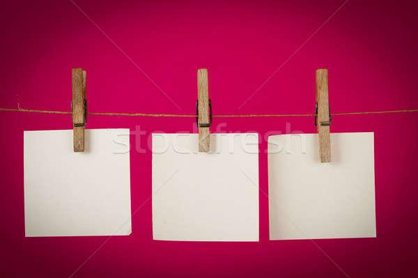 Memória nota documentos enforcamento cordão Foto stock © artush