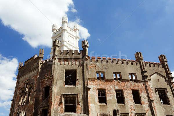 Ruins of state castle, Cesky Rudolec Stock photo © artush