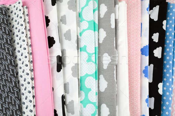 Coton tissu matériel fond mode Photo stock © artush