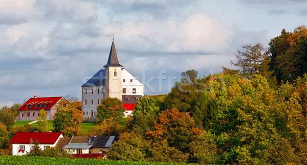 Small chateau in village Stock photo © artush