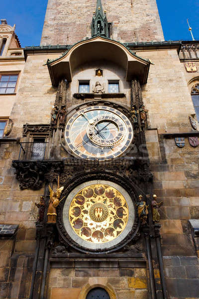 Stock photo: Fascinating old Prague Astronomical Clock -Prague Orloj