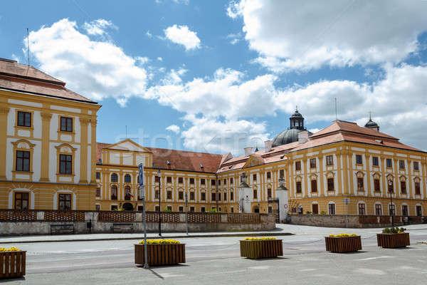Famoso barroco República Checa cielo primavera hierba Foto stock © artush