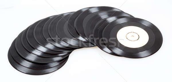 Csoport fekete bakelit lemezek öreg kicsi Stock fotó © artush