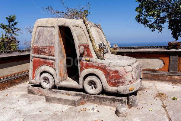 ünlü araba tapınak bali Endonezya Bina Stok fotoğraf © artush