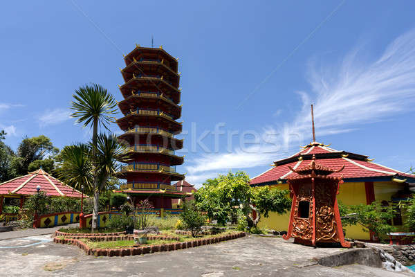 Pagoda Ekayana, Tomohon, Sulawesi Utara Stock photo © artush