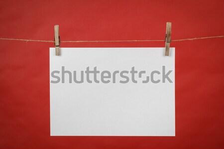 память сведению белый бумаги подвесной шнура Сток-фото © artush