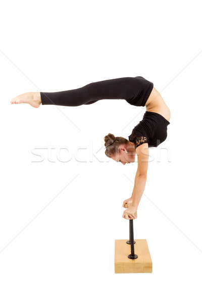 Young professional gymnast woman Stock photo © artush