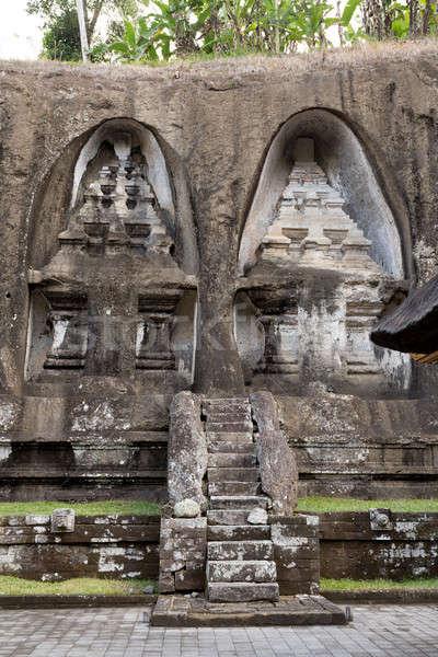 Templom Bali Indonézia Ázsia ősi folyó Stock fotó © artush